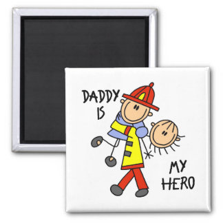 Daddy Firefighter Children's Gift Magnet