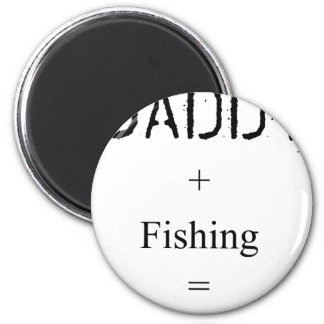 Daddy + Fishing = Love 6 Cm Round Magnet