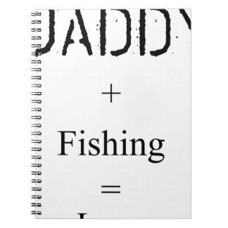 Daddy + Fishing = Love Spiral Notebooks