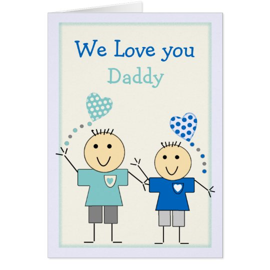 Daddy from the kids Birthday Card
