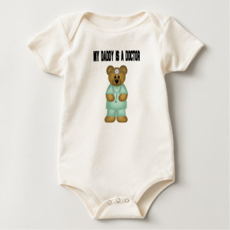 Daddy is a Doctor Bear Baby Bodysuit