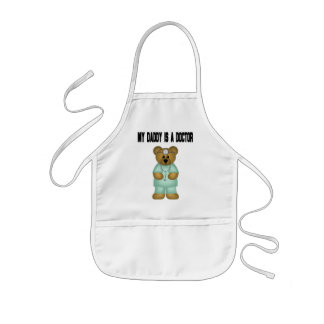 Daddy is a Doctor Bear Kids' Apron
