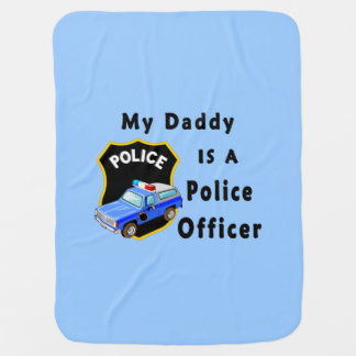 Daddy Is A Police Officer Swaddle Blankets