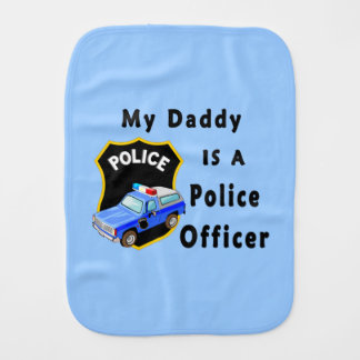 Daddy Is A Police Officer Burp Cloths