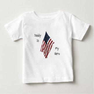 daddy is my hero baby T-Shirt