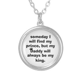 daddy is my king necklace