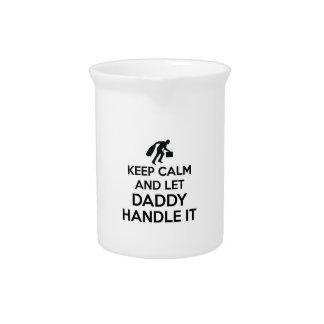 Daddy Keep calm tshirts Pitcher