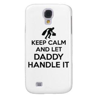 Daddy Keep calm tshirts Samsung Galaxy S4 Cover