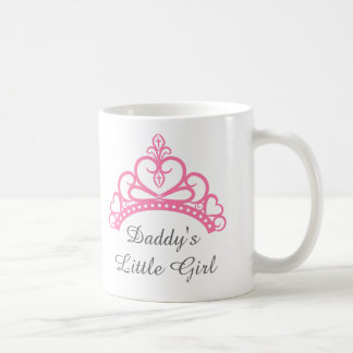 Daddy Little Girl, Chic Pink Princess Tiara Coffee Mug