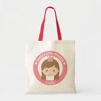 Daddy Little Princess, Cute Princess with Tiara Tote Bag