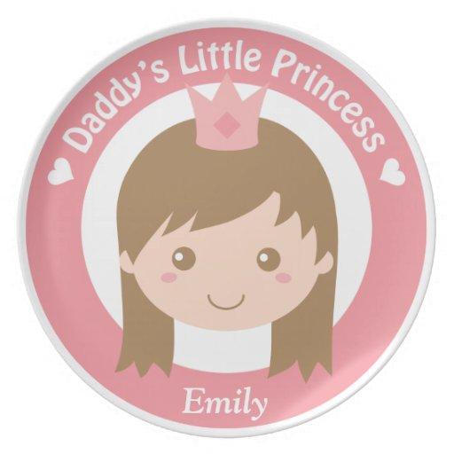 Daddy Little Princess, Cute Princess with Tiara Plate