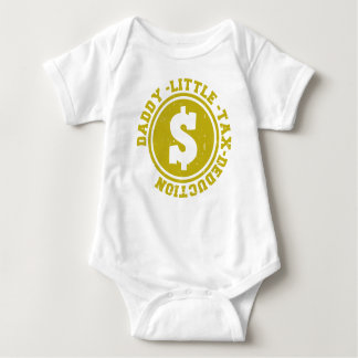 DADDY LITTLE TAX DEDUCTION BABY BODYSUIT