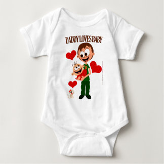 Daddy Loves Baby - Baby Bodies 01 - White Baby Bodysuit