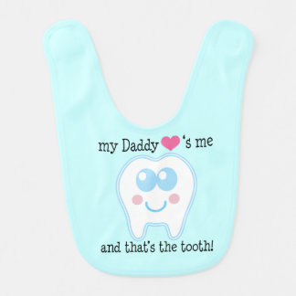 Daddy Loves Me Baby Bib