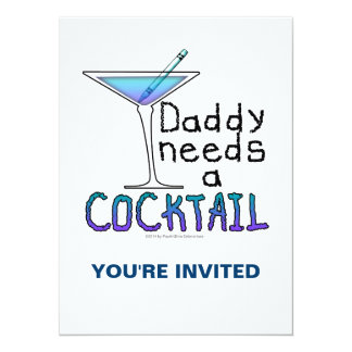 DADDY Needs a Cocktail Card