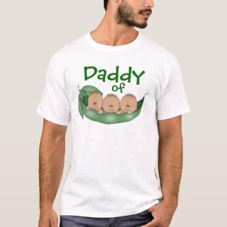 Daddy of Triplet Boys with Dark Skin T-Shirt