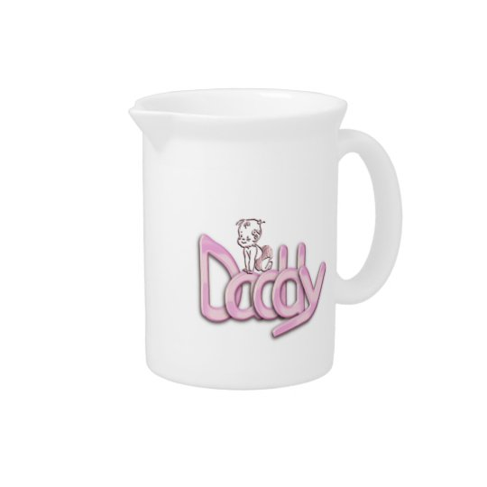 Daddy Pink Baby Pitcher