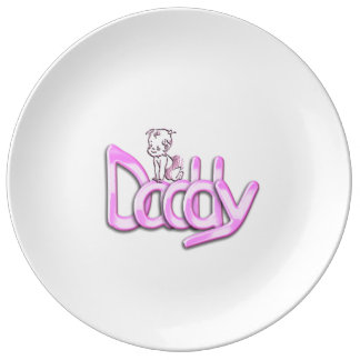Daddy Pink Baby Porcelain Plates