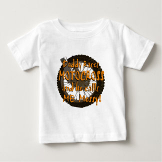 Daddy Races Motocross Baby T-Shirt