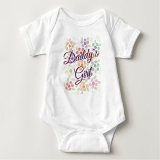 Daddy Romper For Little Girl Baby Bodysuit