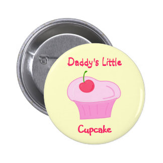 Daddy s Little Cupcake -Cute Pink Cake with Cherry Button