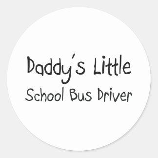 Daddy s Little School Bus Driver Round Sticker