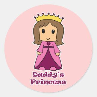 Daddy s Princess Round Stickers