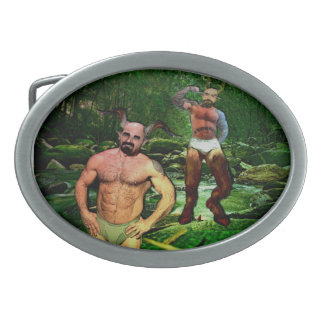 Daddy Satyrs in Briefs Belt Buckle