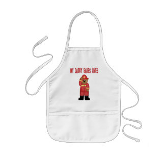 Daddy Saves Lives Firefighter Kids' Apron