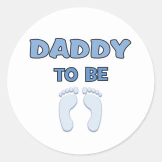 DADDY TO BE ROUND STICKER