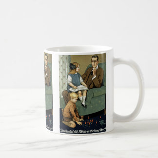 Daddy, what did you do in the Great War? Basic White Mug