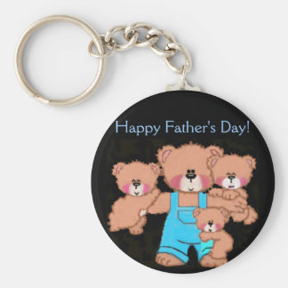 Daddybear, Happy Father's Day! Basic Round Button Key Ring
