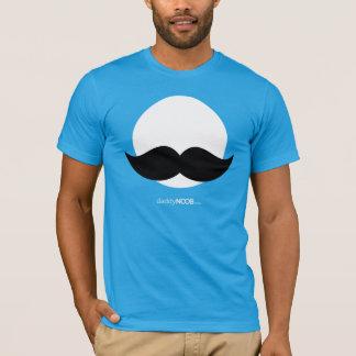 DaddyNoob - Mustache Emblem Blue T-Shirt