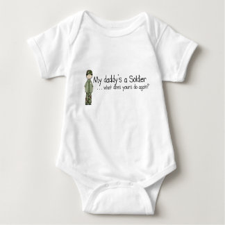 Daddy's a Soldier (6-24mo) Baby Bodysuit
