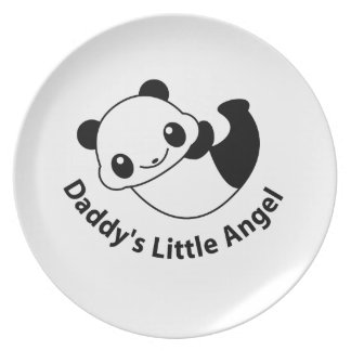 Daddys angel2 dinner plate