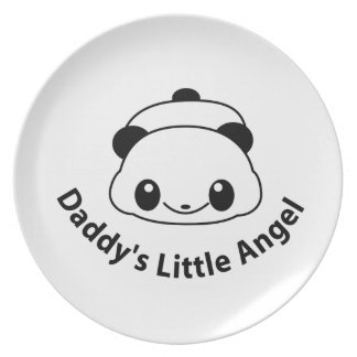Daddys angel Panda Party Plates