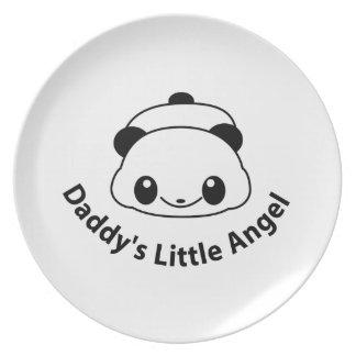 Daddys angel Panda Plates