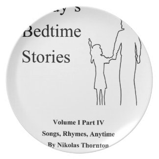 Daddys Bedtime Stories Plate