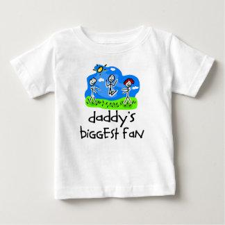 Daddy's Biggest Fan Stick Figure T-shirts