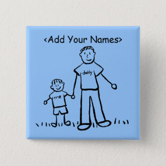 Daddy's Boy Button (Customise Names)