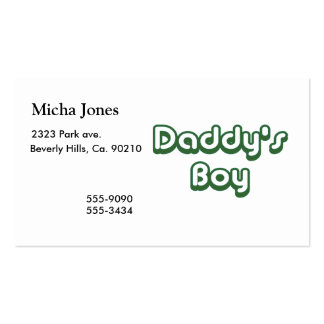 Daddy's Boy Pack Of Standard Business Cards