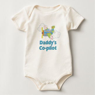 Daddy's Co-pilot Boy Baby Bodysuit
