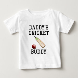 Daddy's Cricket Buddy Baby T-Shirt