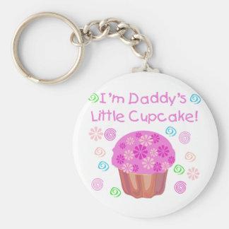 Daddy's Cupcake Basic Round Button Key Ring