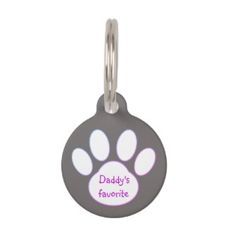 *Daddy's favorite* Dog Tag Paw design (Gray)