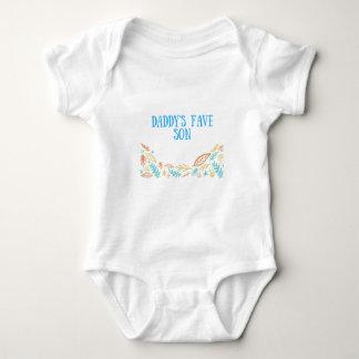 Daddy's Favorite Son Baby Bodysuit