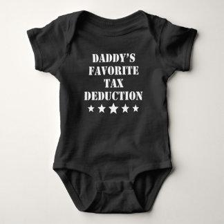 Daddy's Favorite Tax Deduction Baby Bodysuit