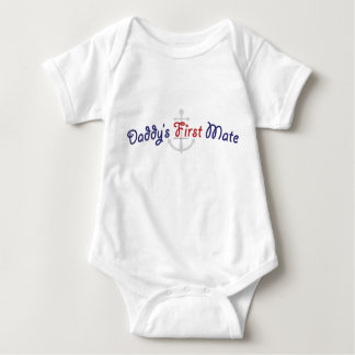 Daddy's First Mate Baby Bodysuit