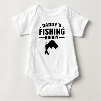 Daddy's Fishing Buddy Baby Bodysuit