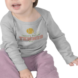 Daddy's Future Tennis Pro Baby Long Sleeve Tee
